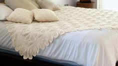 art: CROCHETED BEDSPREAD AND PILLOWCASES diagrams