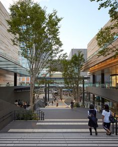 Futako Tamagawa Masterplan in Tokyo - e-architect Commercial Street, Centre Commercial, Commercial Design, Axe Commercial, Retail Architecture, Commercial Architecture, Landscape Architecture, Architecture Photo, Mall Design