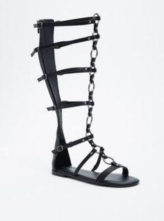 O Ring Knee Gladiator Sandals