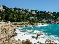 """Forget """"nature sounds"""" alarm clocks.... wake up to the sound of actual waves crashing against an actual sun-dappled beach in #Nice #France. http://www.nyhabitat.com/south-france-apartment/furnished/1164"""
