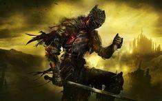 Descargar fondos de pantalla Cenicientos Una resolución de 4k, guerrero, 2017, juegos de ROL, Dark Souls 3