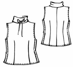 high neck sleeveless top - free pattern