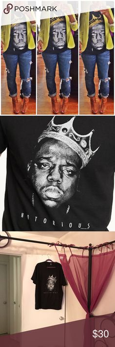 Biggie smalls graphic t shirt New graphic hip hop t shirt notorious big pic 2-4 Tops Tees - Short Sleeve