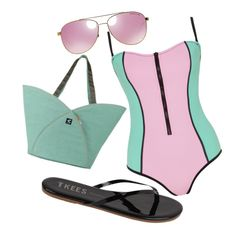 """""""pastel swimsuit"""" by nature4ever on Polyvore featuring Bondi Born, Tkees and Michael Kors"""