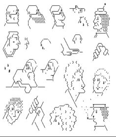 Heikki Lotvonen – Amiga ASCII -art (bachelor's thesis) Graphic Design Tips, Graphic Design Posters, Graphic Design Typography, Illustration Sketches, Graphic Design Illustration, Art Zine, Ascii Art, Sketch Tattoo Design, Typography Alphabet