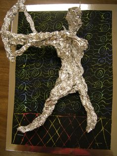Aluminum foil sculptures