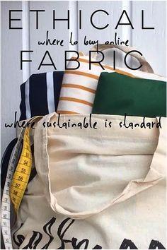 Ethical fabric for sustainable fashion: organic cotton, ethical fashion, sustainable sewing, sustainable fabrics online