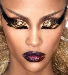 Leopard print eyeshadow. (not the rest of the makeup, that's a bit over the top) :D