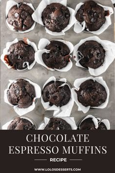 Desserts With Chocolate Chips, Chocolate Chip Muffins, Chocolate Flavors, Chocolate Recipes, Recipes Using Lemon Curd, Recipe Using Lemons, Cupcakes, Cupcake Cakes, Coffee Muffins