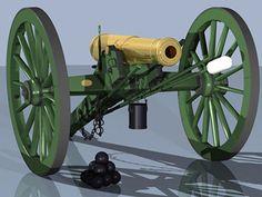 3D Model Civil War Cannon - 3D Model