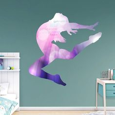 Fathead Gymnastics Silhouette Wall Decal - 69-01919