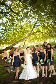 J Crew navy bridesmaids dresses.