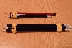brilliant idea: for adding seam allowances to patterns (e.g. Burda), attach pencils with a rubber band, which will trace the seam line and seam allowance.
