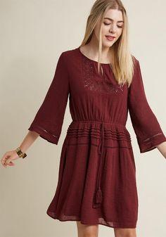 #ModCloth - #ModCloth Farmers Markedness Long Sleeve Dress in S - AdoreWe.com