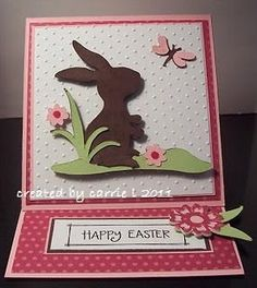 Cute Easter Easel Card