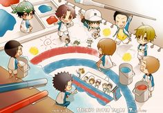 Find images and videos about chibi, prince of tennis and seigaku on We Heart It - the app to get lost in what you love. Prince Of Tennis Anime, Anime Prince, Anime Chibi, Kawaii Anime, Anime Art, Manga Cute, Anime Crossover, Manga Games, Illustrations Posters