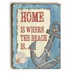 Beachcrest Home Home is Where the Beach Textual Art & Reviews   Wayfair.ca