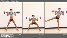 Plie Squat + Side Kick