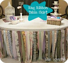 For a little girls room, party table - LOVE it!