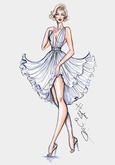 Hayden Williams Fashion Illustrations: Happy Birthday Marilyn! By Hayden Williams