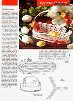Kodu sisustus jm - Roheline - Álbuns da web do Picasa Diy Crochet Basket, Crochet Basket Tutorial, Crochet Bowl, Crochet Chart, Thread Crochet, Crochet Motif, Crochet Doilies, Christmas Crochet Patterns, Holiday Crochet