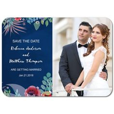 Floral Merriment Save The Dates