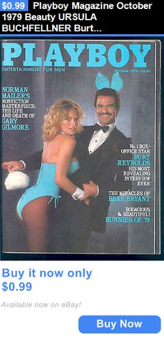 Magazines: Playboy Magazine October 1979 Beauty Ursula Buchfellner Burt Reynolds Vg BUY IT NOW ONLY: $0.99