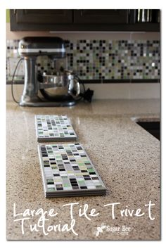 easy way to make a Large Tile Trivet to hold hot pots - would be perfect as gifts!