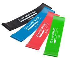 Mini Precision Loop Exercise Bands with E-Quickstart W DYNAPRO Resistance Bands
