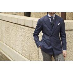 D.B. blue jacket / RT056F37X MODEL : no.268H WOOL 93% 、cashmere 7%