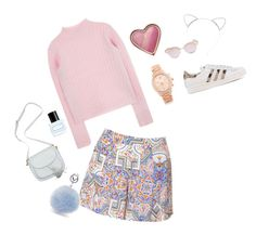 Spring brunch by itscoralvirginia on Polyvore featuring polyvore, fashion, style, Glamorous, adidas Originals, Michael Kors, Le Specs, Lipsy, Too Faced Cosmetics, Marc Jacobs and clothing