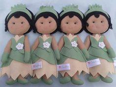 Boneca Princesa Tiana com molde