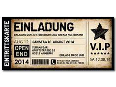Einladungskarten als Fussball, Ticket, Eintrittskarte, Konzertkarte - exklusivedrucksachen