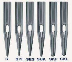 Tipos de agujas de punta redonda