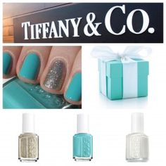 Tiffany & Co. Inspired nails. I am trying this immediately.