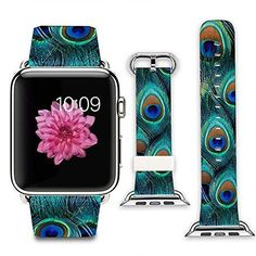 BIG-PEACOCK-FEATHER-Wristband-Band-Strap-Accessories-For-iWatch-38MM-APPLE-WATCH