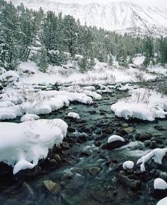 Snowy Upper Rock Creek, Eastern Sierras Pentax 6x7 Kodak Portra 160