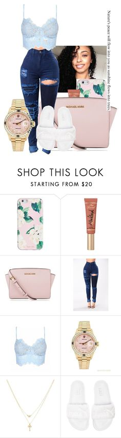 """going to the movies// Nessa"" by th3-qu33n-25 on Polyvore featuring ban.do, MICHAEL Michael Kors, Rolex, Betsey Johnson and Puma"
