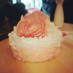 Ombre Ruffles cake  Great Lakes Cakes And Pastries CWPC Courtney Lorenz  www.facebook.com/greatlakescakesandpastries