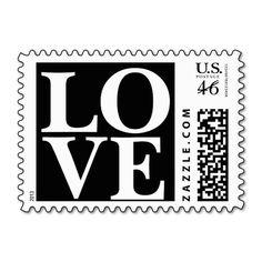 Big Love Stamp   Black And White Wedding