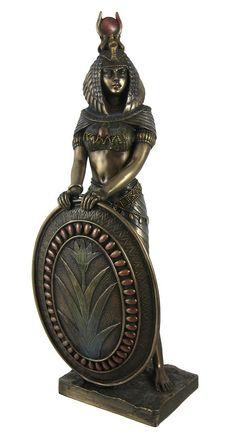 Amazon.com: Standing Isis Statue Egyptian Goddess Bronze Finish: Home & Kitchen