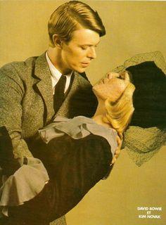 David Bowie with Kim Novak.
