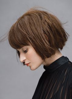 cool edgy bob with bangs