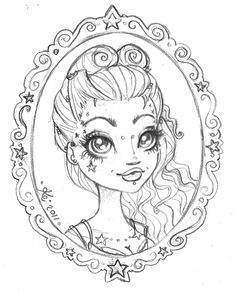Girl Coloring Pages ⋆ coloring.rocks! Free Adult Coloring Pages, Coloring Pages For Girls, Flower Coloring Pages, Cool Coloring Pages, Coloring Books, Sharpie Colors, Coloring Pages Inspirational, Girls Mirror, Art Drawings For Kids