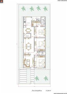 Casa 3 Quartos - 112m²