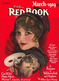 The beguilingly beautiful March 1929 cover of Redbook magazine