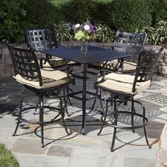 Bar Height Patio Chairs Tall Patio Furniture | Laurensthoughts