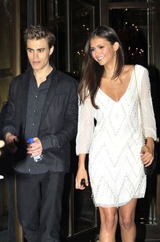 | Paul Wesley and Nina Dobrev Paul and Nina leaving their hotel in NYC ... #stelena SEXY!!!