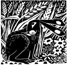 Carry Akroyd - Painter & Printmaker - Atrticles & Publications Lino Art, Woodcut Art, Linocut Prints, Art Prints, Illustrations, Illustration Art, Wie Zeichnet Man Manga, Linoprint, Rabbit Art