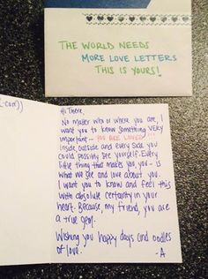 RUN via The World Needs More Love Letters Letters